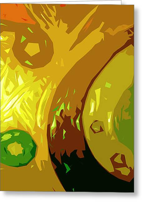 Abstract Movement Greeting Cards - Mudlark Panel 2 Greeting Card by Ryan Burton