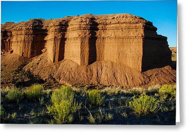 Green Mudstone Greeting Cards - Mudstone of the Summerville Formation San Rafael Swell Utah Greeting Card by Robert Ford