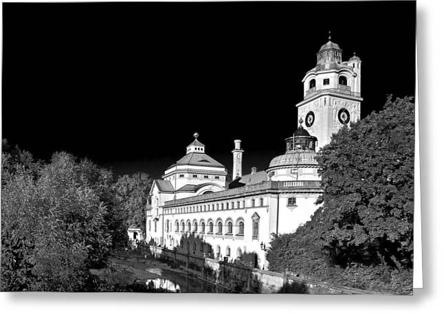 Bath Greeting Cards - Muellersches Volksbad - Munich Germany Greeting Card by Christine Till