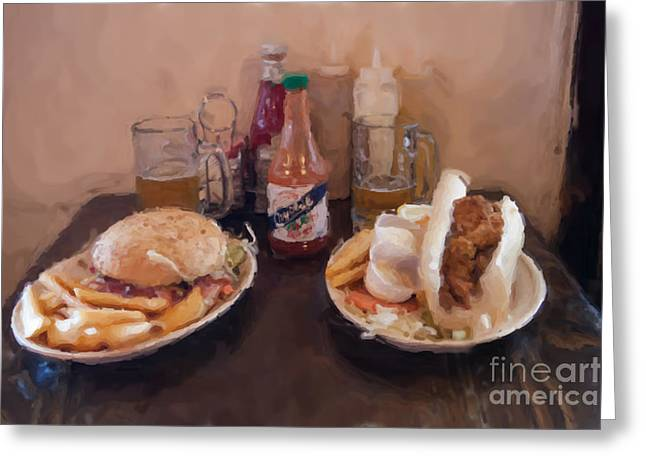 French Fries Greeting Cards - Muffaletta and Po-Boy Greeting Card by Kay Pickens