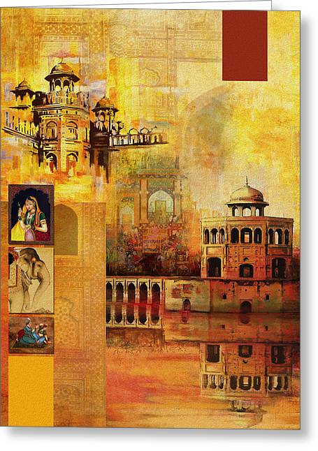 Akbar Shahjahan Greeting Cards - Mughal Art Greeting Card by Catf