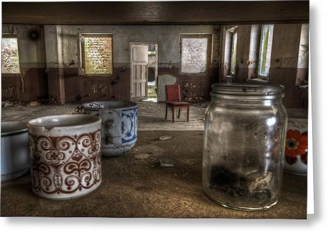 Creepy Digital Art Greeting Cards - Mugs and Jar Greeting Card by Nathan Wright