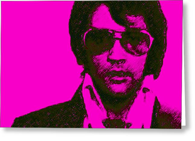 Mugshot Elvis Presley m80 Greeting Card by Wingsdomain Art and Photography