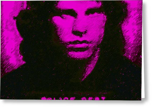 Mugshot Jim Morrison m88 Greeting Card by Wingsdomain Art and Photography