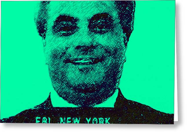 Mugshot John Gotti p128 Greeting Card by Wingsdomain Art and Photography