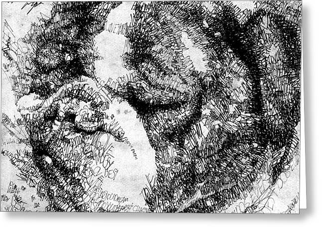 Michael Drawings Greeting Cards - Mugsy the Pup Greeting Card by Michael  Volpicelli