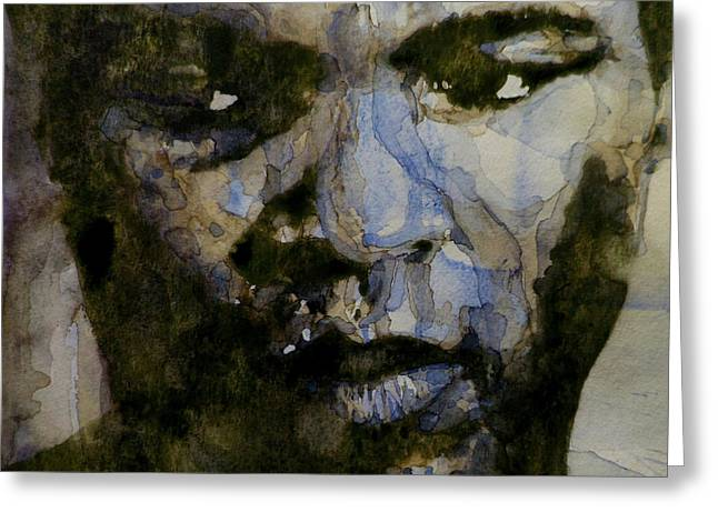 Great Paintings Greeting Cards - Muhammad Ali  A Change Is Gonna Come Greeting Card by Paul Lovering