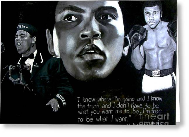 African-american Greeting Cards - Muhammad Ali Greeting Card by Chelle Brantley