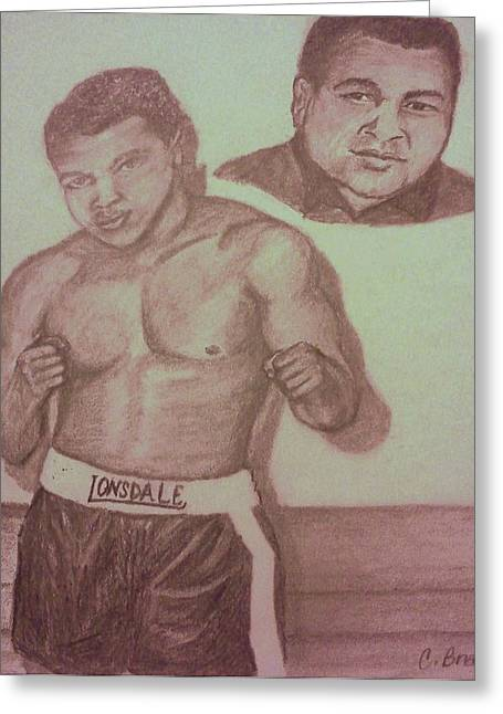 Muhammad Ali Greeting Card by Christy Saunders Church