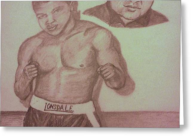 Muhammad Ali Greeting Card by Christy Brammer