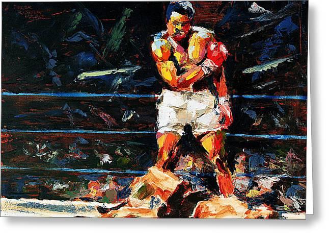 Muhammad Ali Greeting Card by Derek Russell