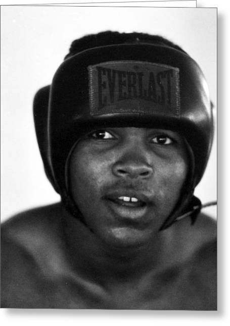 Intensity Greeting Cards - Muhammad Ali Headshot  Greeting Card by Retro Images Archive