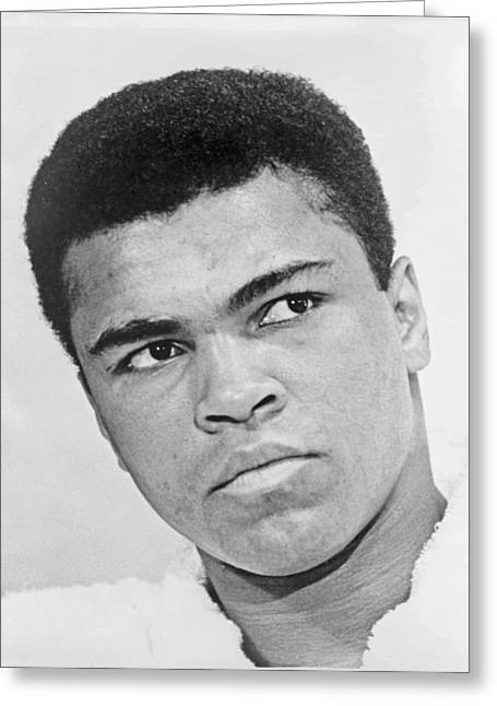 Famous Person Portrait Greeting Cards - Muhammad Ali Greeting Card by Mountain Dreams
