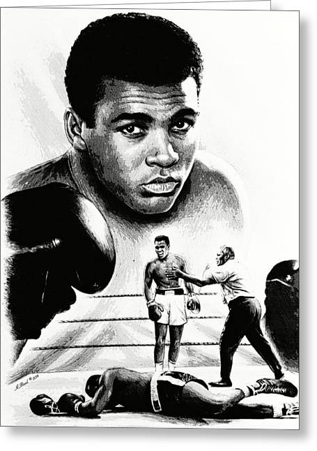 Muhammad Ali The Greatest Greeting Card by Andrew Read