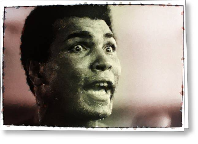 Mohammed Ali Greeting Cards - Muhammed Ali during training Greeting Card by Twan Urselmann