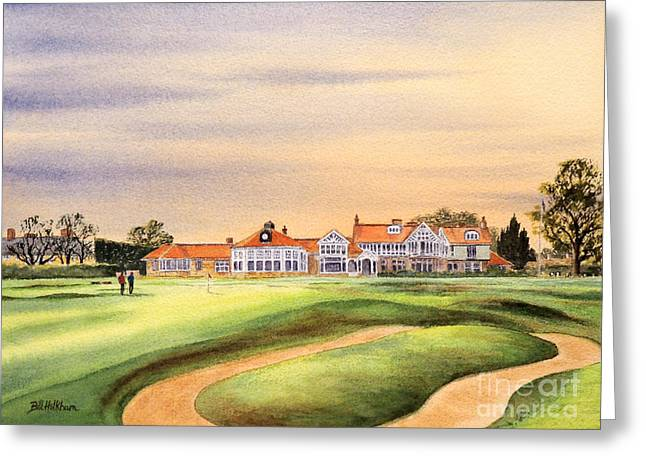 Nicklaus Greeting Cards - Muirfield Golf Course Greeting Card by Bill Holkham