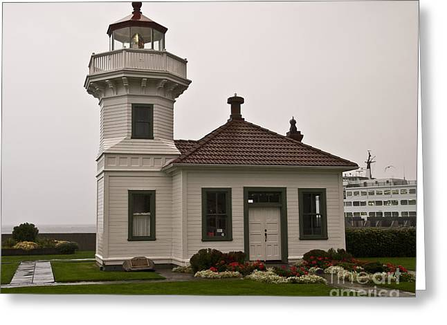 Historic Ship Greeting Cards - Mukilteo Lighthouse 1 Greeting Card by Kirt Tisdale