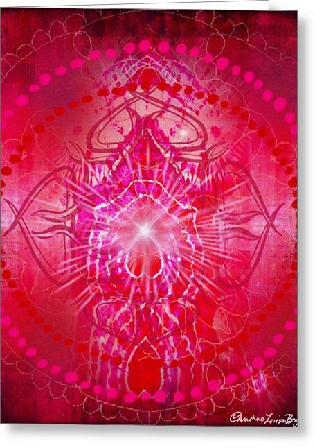 Christine Bryant Digital Greeting Cards - Muladhara - Chakra 1 Greeting Card by Christine Louise Bryant