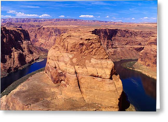 Geology Photographs Greeting Cards - Muleshoe Bend At A River, Colorado Greeting Card by Panoramic Images