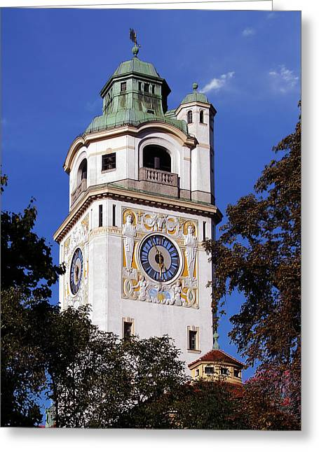 Recently Sold -  - Popular Art Greeting Cards - Mullersches Volksbad Munich Germany - A 19th century SPA Greeting Card by Christine Till