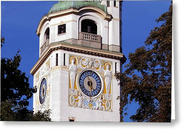 Mullersches Volksbad Munich Germany - A 19th century SPA Greeting Card by Christine Till