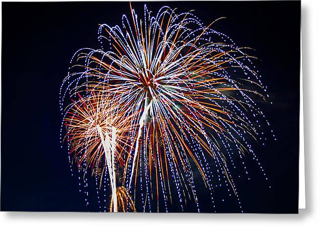 Best Sellers -  - Pyrotechnics Greeting Cards - 4th of July Fireworks 14 Greeting Card by Howard Tenke