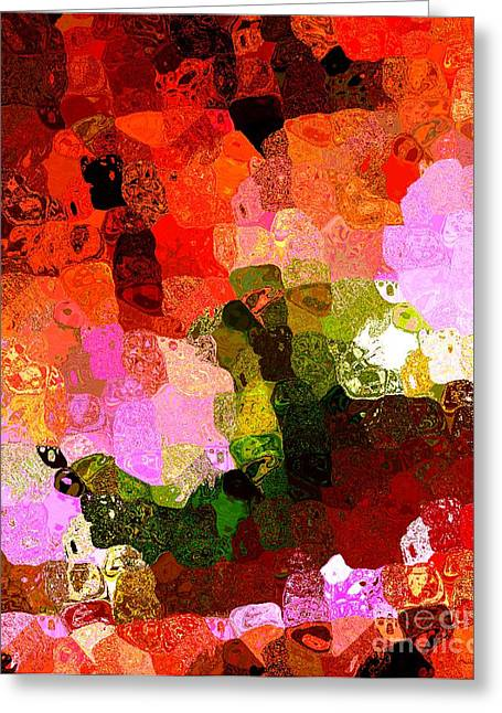 Multi Color Abstract Art Of Spots Greeting Card by Mario Perez