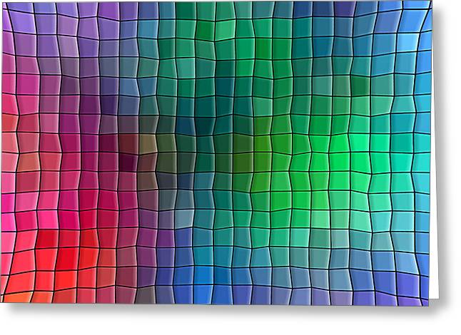 Art Websites Greeting Cards - Multi Color Squares Background Greeting Card by Valentino Visentini