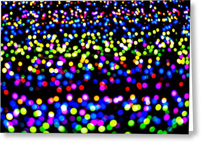 Lightscapes Greeting Cards - Multi-colored Light Spots Greeting Card by Chay Bewley