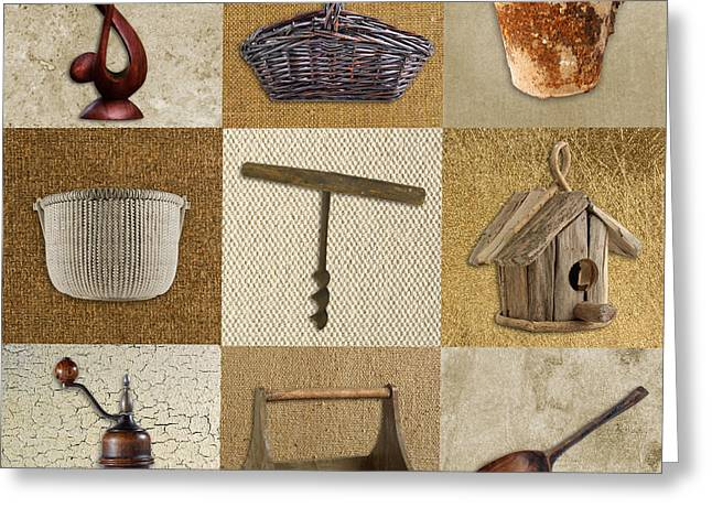 Kitchen Wall Digital Greeting Cards - Multi Home Decor - Beige 01cr Greeting Card by Variance Collections
