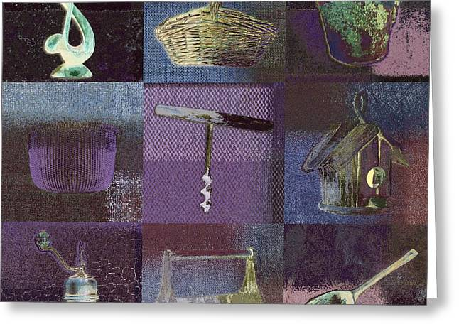 Multi Home Decor - Bz01 Greeting Card by Variance Collections