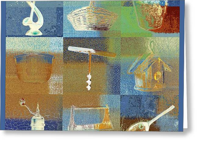 Kitchen Wall Digital Greeting Cards - Multi Home decor - spmtc01fr03 Greeting Card by Variance Collections