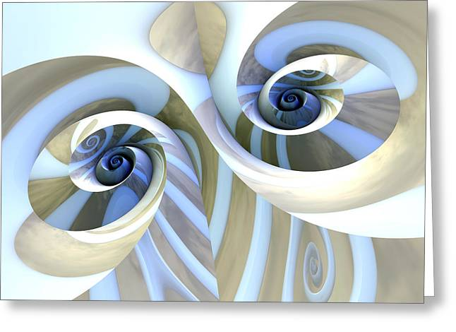 Unique Art Greeting Cards - Multi-Swirl Greeting Card by Kevin Trow