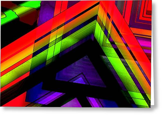 Multicolor Geometric Artwork Greeting Card by Mario  Perez