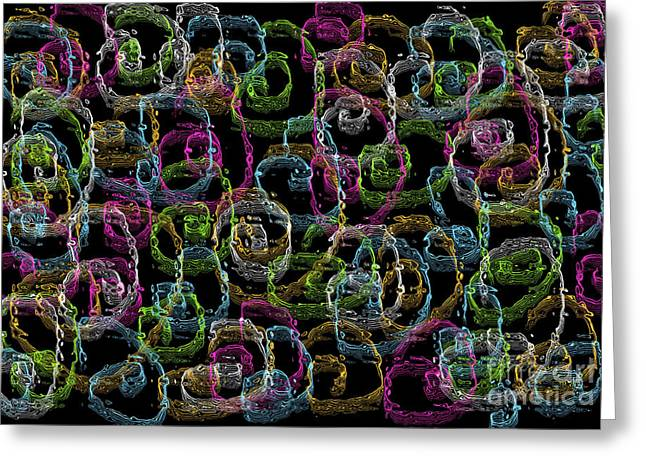 Abstract Style Tapestries - Textiles Greeting Cards - Multicolored spirals  Greeting Card by Lali Kacharava