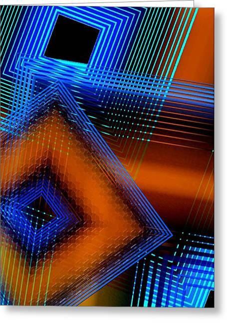Transparency Geometric Greeting Cards - Multiple Lines on Geometrical Art Greeting Card by Mario  Perez