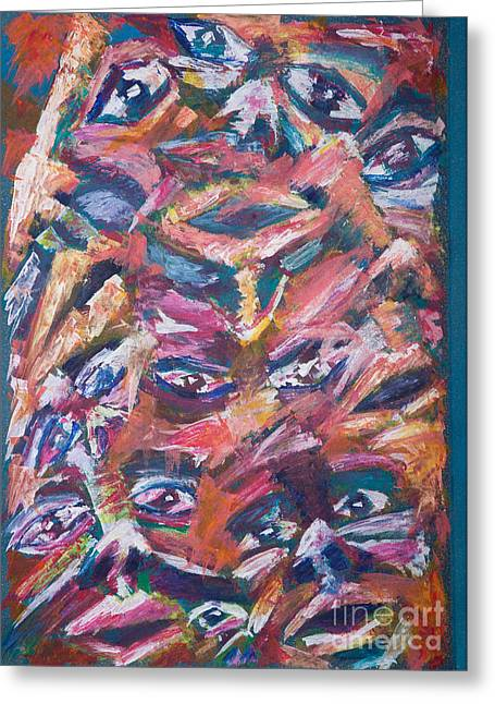 Absorb Paintings Greeting Cards - Multiplicity Greeting Card by Matthew  Wardell