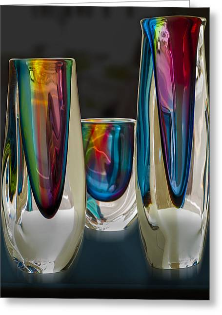 Glass Vase Greeting Cards - Multiplicity Greeting Card by Paul Wear