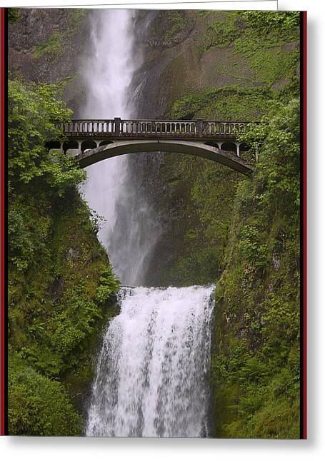 Arlington Greeting Cards - Multnomah Falls Oregon Greeting Card by Gary Grayson