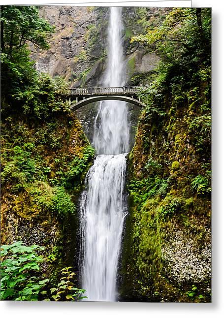 Multnomah Falls Oregon Waterfalls Greeting Card by Puget  Exposure