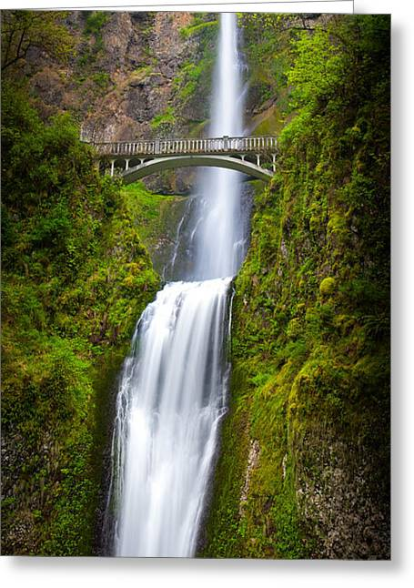 Columbia River Greeting Cards - Multnomah Panorama Greeting Card by Inge Johnsson