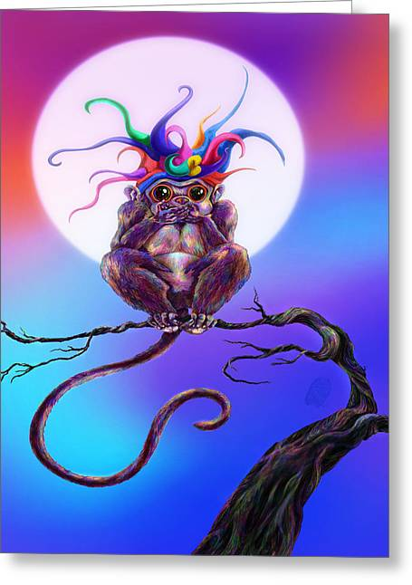 Jester Greeting Cards - Mumble Evil Greeting Card by Kd Neeley