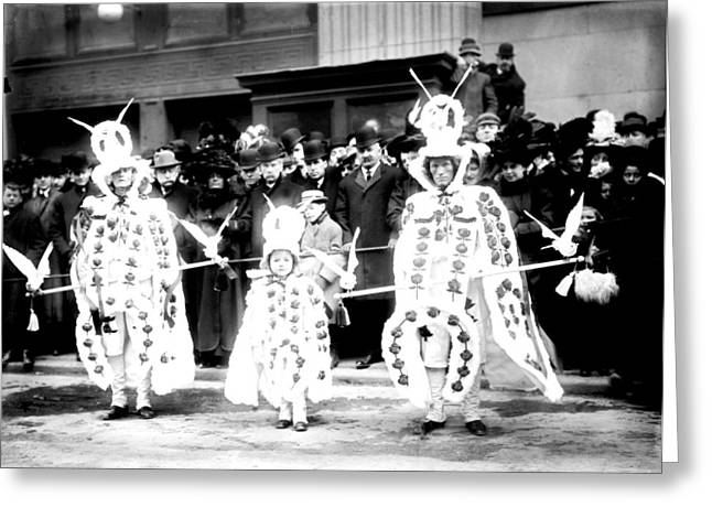 Broad Street Digital Art Greeting Cards - Mummers circa 1909 Greeting Card by Digital Reproductions
