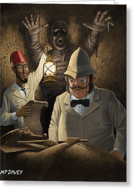 Undead Greeting Cards - Mummy Awake Greeting Card by Martin Davey