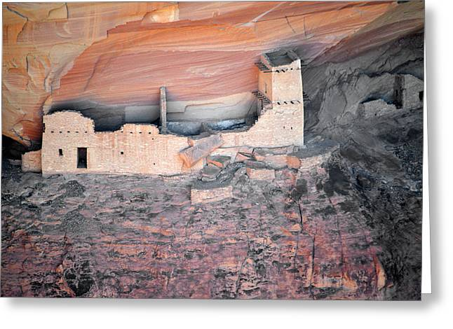 Overlook Greeting Cards - Mummy Cave Ruin Canyon del Muerto Greeting Card by Christine Till
