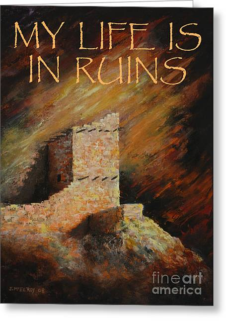 Ancient Ruins Greeting Cards - Mummy Cave Ruins II Greeting Card Greeting Card by Jerry McElroy
