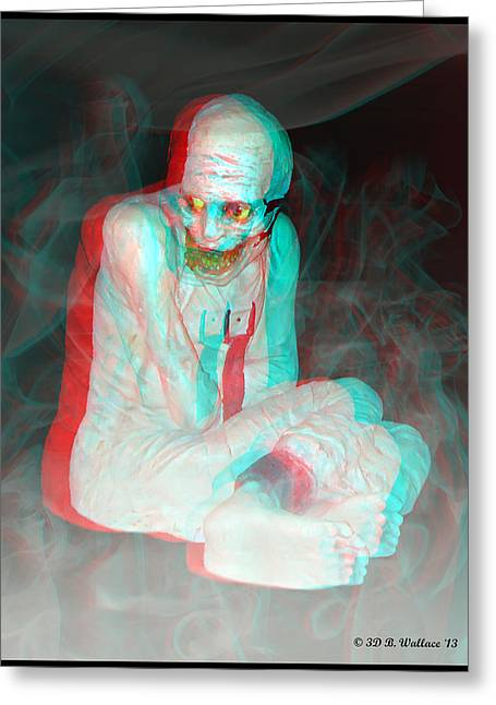 Mummy Dearest - Use Red-cyan Filtered 3d Glasses Greeting Card by Brian Wallace