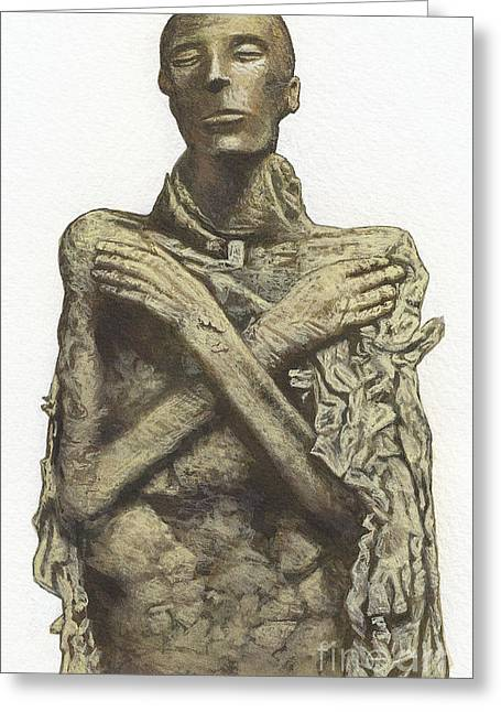 Egyptian Mummy Greeting Cards - Mummy Of King Seti I Greeting Card by Dorling Kindersley