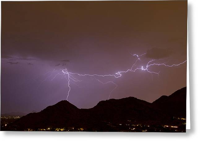 Arizona Lightning Greeting Cards - Mummys Dream Greeting Card by Cathy Franklin