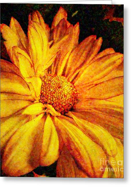 Botanical Greeting Cards - Mums Mum Greeting Card by Lianne Schneider